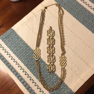 Lia Sophia Gold Nautical Necklace